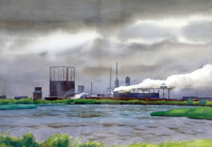 """Gas Works"" by Harry Leith Ross"